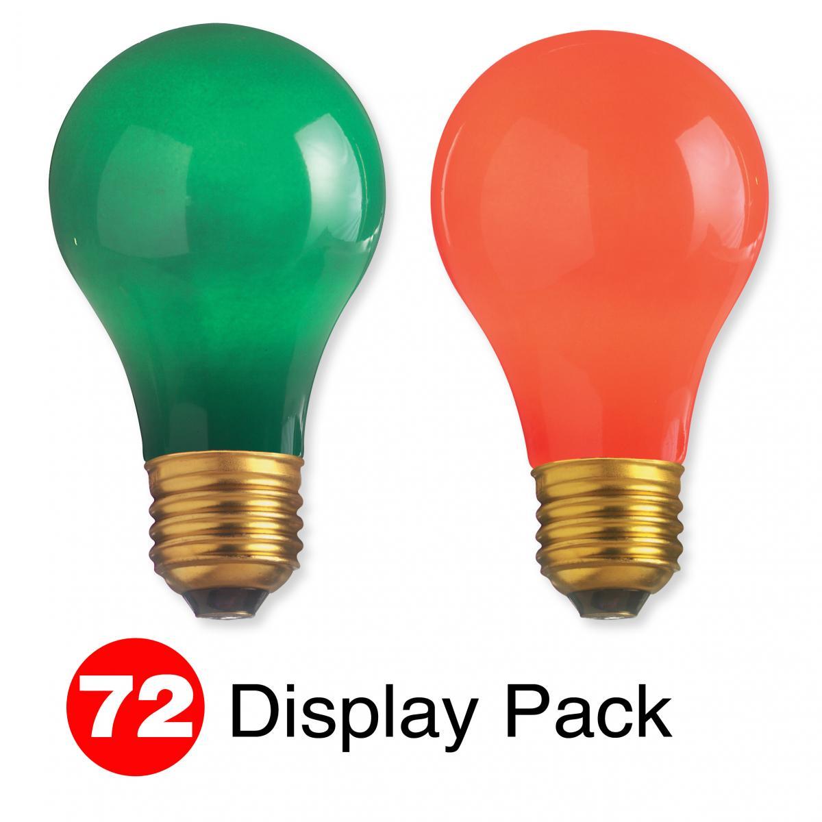 Ceramic Red Satco S6090 25 Watt A19 Incandescent Light Bulb