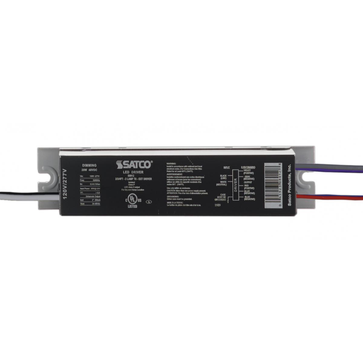 S8012 2/3/4FT - 2 LAMP T8 - EXT DRIV