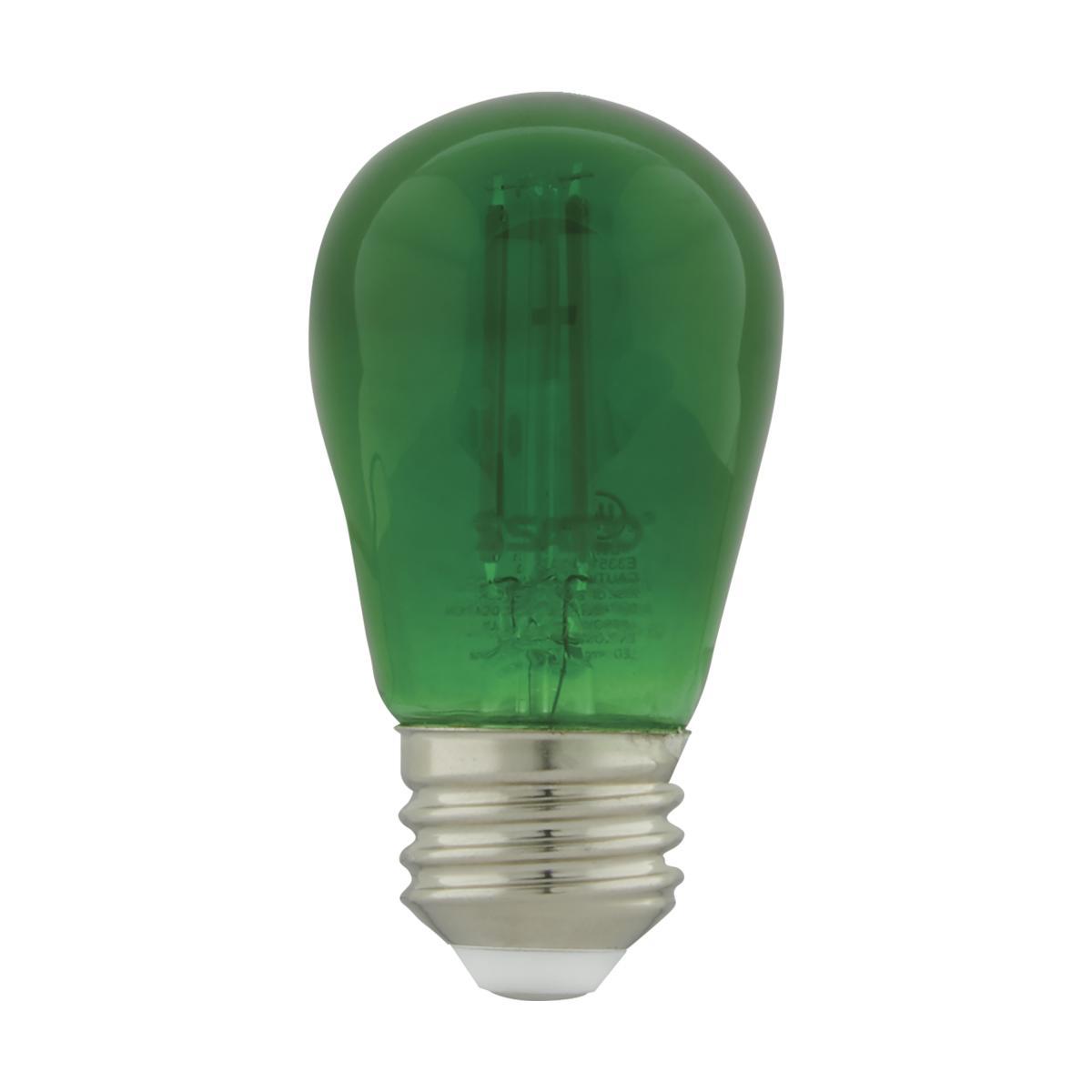 S8024 1W/LED/S14/GREEN/120V/ND/4PK